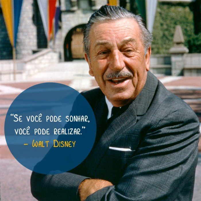 Palavras de Walt Disney