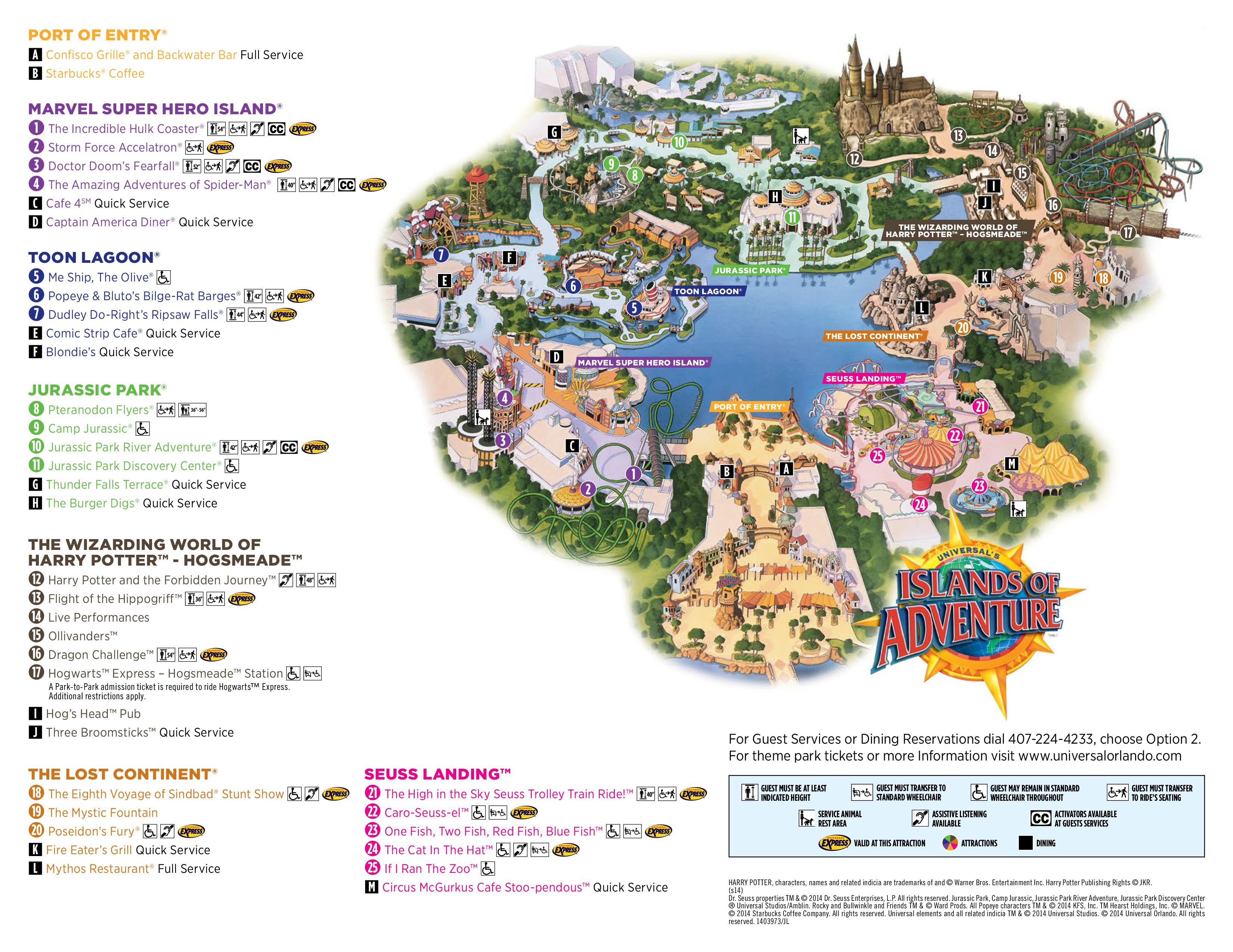 Islands of Adventure  Guia da Disney