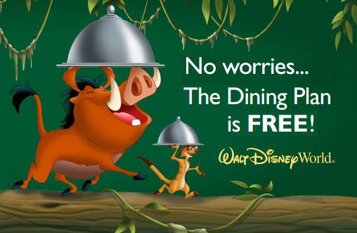 Plano de Refeição Grátis Disney