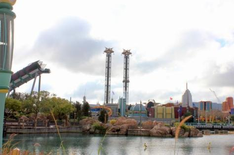 Incredible Hulk Coaster track